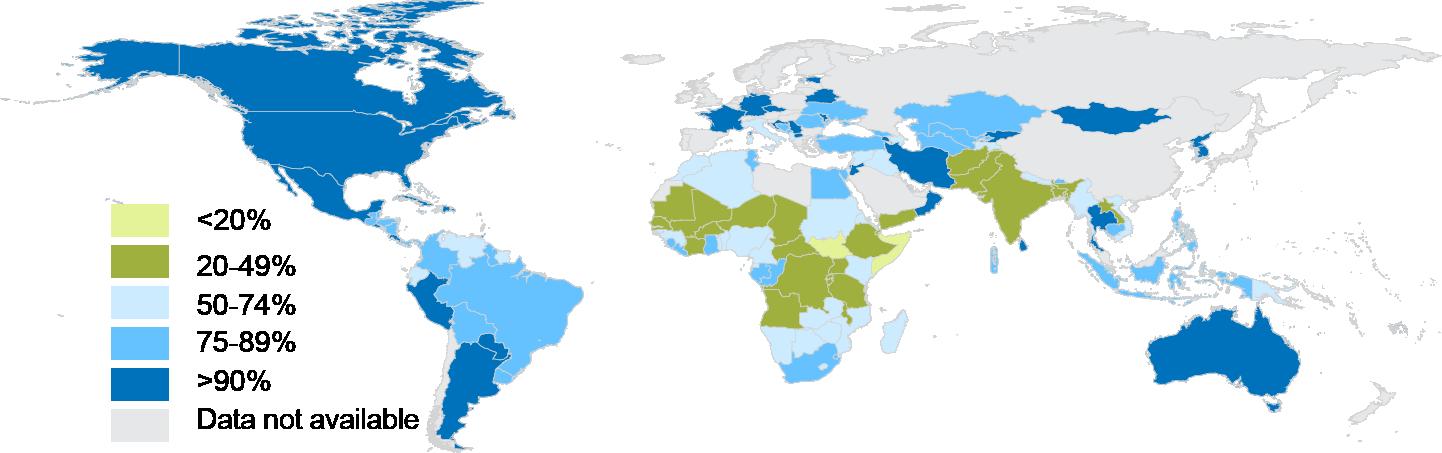 Antenatal Care UNICEF DATA - Us internet health map