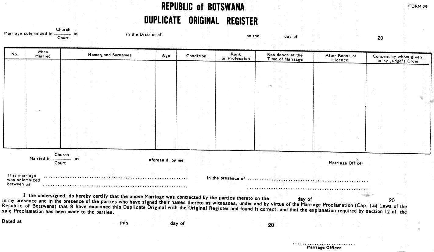 gambia marriage certificate